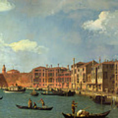 View Of The Canal Of Santa Chiara Poster