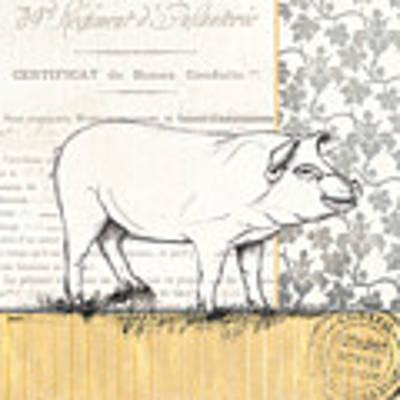 Vintage Farm 2 Poster by Debbie DeWitt