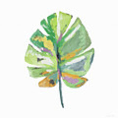 Watercolor Palm Leaf- Art By Linda Woods Poster by Linda Woods