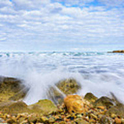 Wave Splash Poster by Gary Gillette