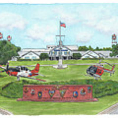Whiting Field Welcome Sign Poster by Betsy Hackett