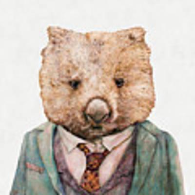 Wombat Poster by Animal Crew