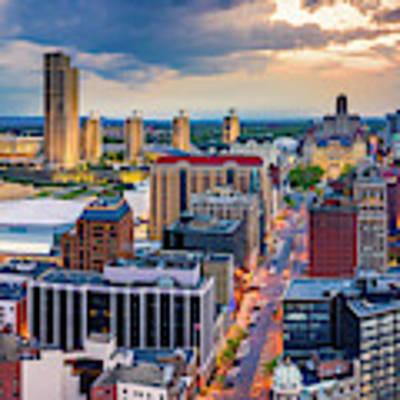 Aerial Panorama Of Albany, New York Poster by Mihai Andritoiu