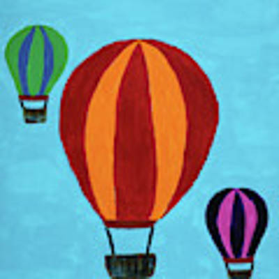 A Bunch Of Hot Air Poster by Deborah Boyd