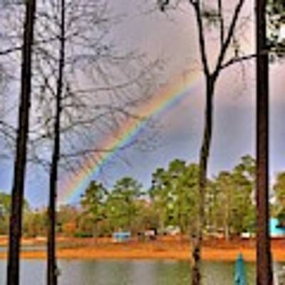 A Pot Of Gold On Lake Murray South Carolina Poster by Lisa Wooten