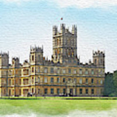 A View Of Highclere Castle 1 Poster by Joe Winkler