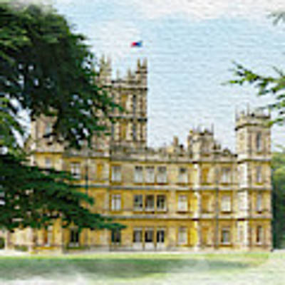 A View Of Highclere Castle 2 Poster by Joe Winkler