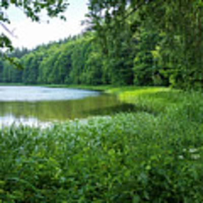 a wonderful lake near Swieta Lipka chaple Poster by Dubi Roman