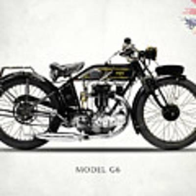 Ajs Model G6 1926 Poster by Mark Rogan