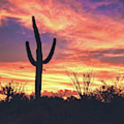 An Arizona Sunset Poster by Chance Kafka