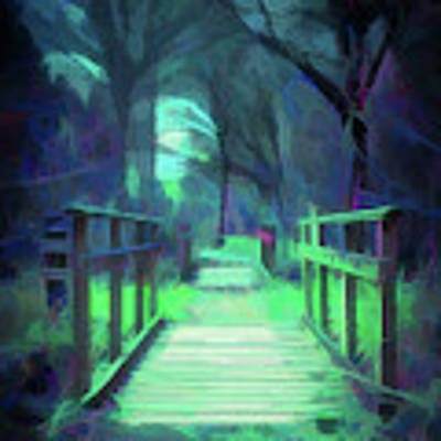Another World - Wooden Bridge Poster by Scott Lyons