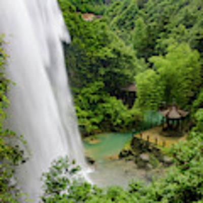 Baiyun Waterfall Poster by William Dickman