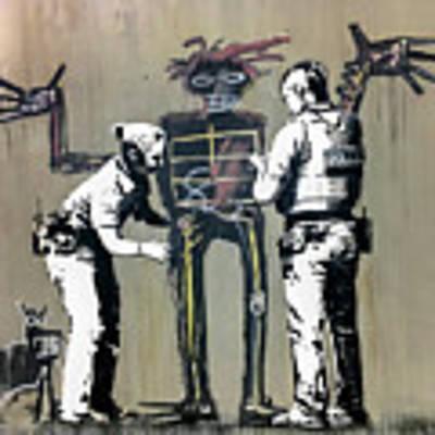 Banksy Coppers Pat Down Poster by Gigi Ebert