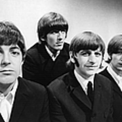 Beatles At The Bbc Poster by Central Press