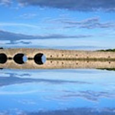 Belvelly Castle Reflection Poster by Joan Stratton