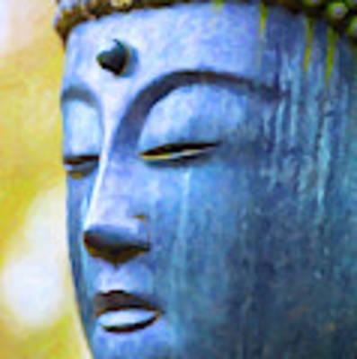 Blue Tone Buddha Poster by Tim Gainey