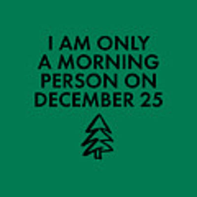 Christmas Morning Person Poster by Nancy Ingersoll