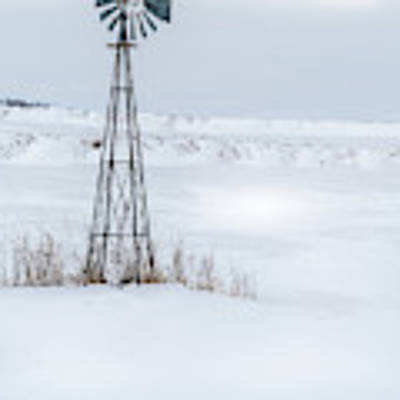 Cold Windmill Poster by Edward Peterson