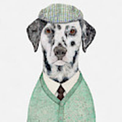 Dalmatian Mint Poster by Animal Crew