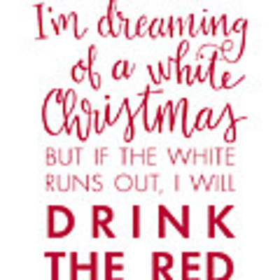 Drink The Red Poster by Nancy Ingersoll