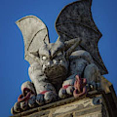 Eastern State Gargoyle Poster by Lora J Wilson