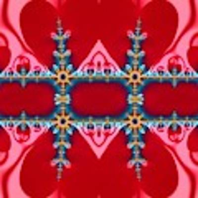 Gods Love And Mercy Is Infinite Fractal Abstract Hearts Poster by Rose Santuci-Sofranko