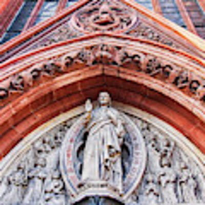 Gothic Relief Sculpture On Church Poster by Ariadna De Raadt