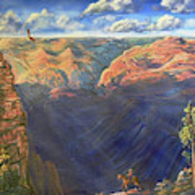 Grand Canyon And Mather Point Poster by Chance Kafka