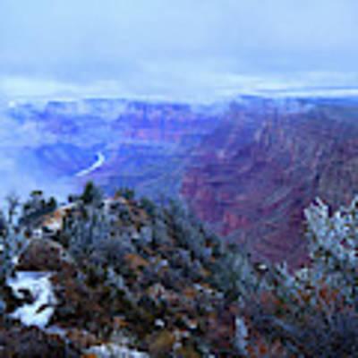 Grand Canyon Winter Scene Poster by Chance Kafka