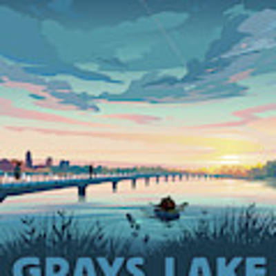 Grays Lake Poster by Clint Hansen
