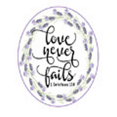 Love Never Fails' Poster by Judy Hall-Folde