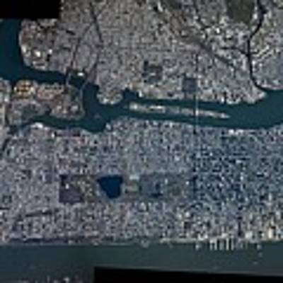 Manhattan - 2012 From Space Poster by Celestial Images
