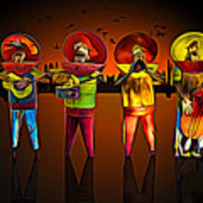 Mariachis Poster by Paul Wear