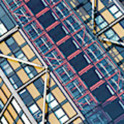 Modern Apartment Architecture Abstract Poster by Tim Gainey