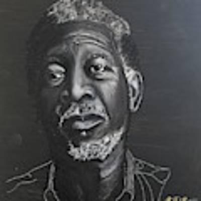 Morgan Freeman Poster by Richard Le Page