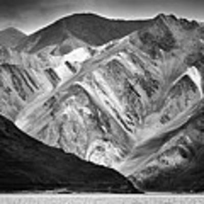 Mountains At Pangong Poster by Whitney Goodey
