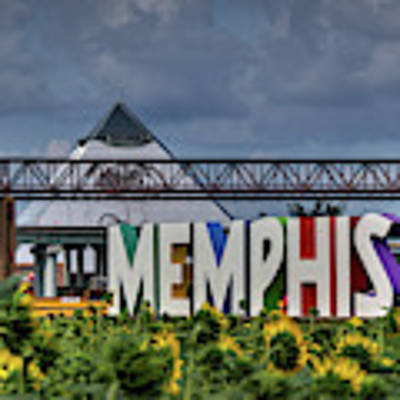 Mud Island Memphis Monument 002 Poster by Lance Vaughn