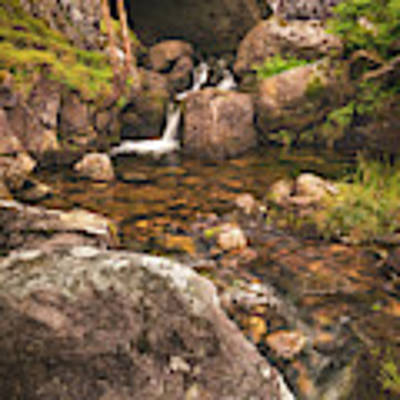 Nant Gaws Waterfall And Old Stone Bridge Poster by Elliott Coleman
