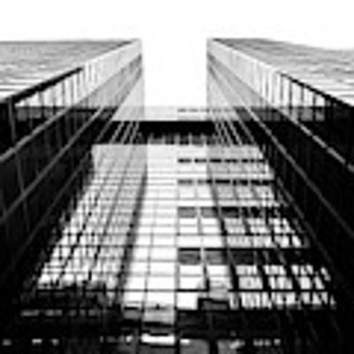 Northern Shell Building Black And White Poster by Tim Gainey