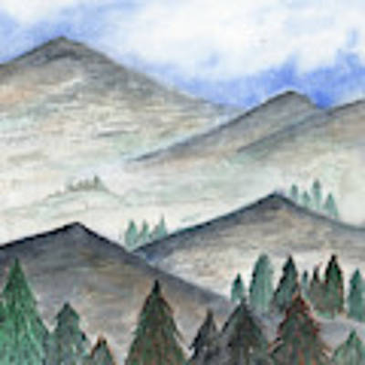November Mountains Poster by Betsy Hackett