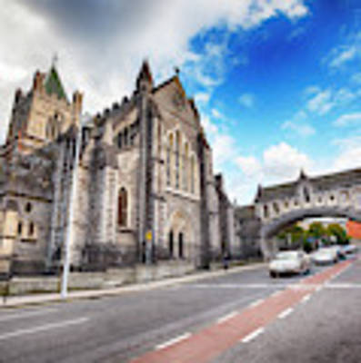 panorama of The Cathedral of Dublin Poster by Ariadna De Raadt