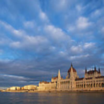 Parliament On The Danube Poster by Davor Zerjav