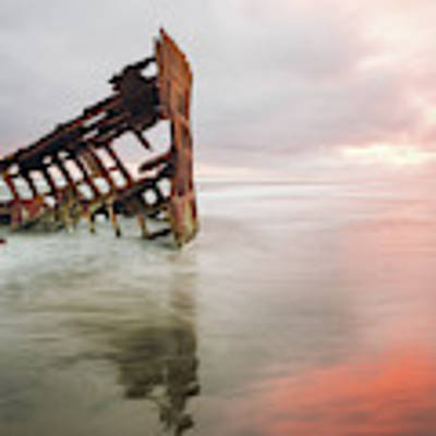 Peter Iredale Shipwreck Poster by Nicole Young