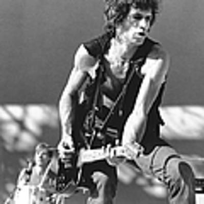 Photo Of Keith Richards Poster by Larry Hulst
