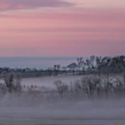 Pink Misty Morning #3 - Misty Field Poster by Patti Deters