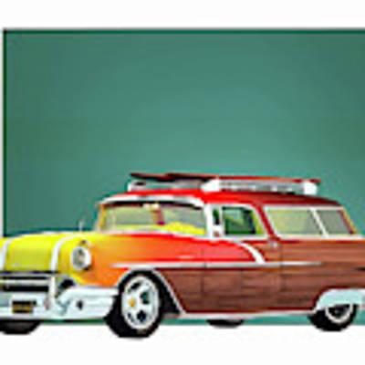 Pontiac Safari Surfer Edition Poster by Jan Keteleer
