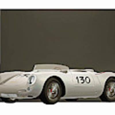 Porsche 550a Spyder 1956 Poster by Jan Keteleer