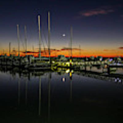 Pre-dawn Marina Poster by Tom Claud
