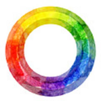 Rainbow Color Wheel Poster by Lauren Heller