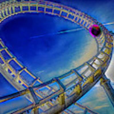 Roller Coaster Ocean City Md Poster by Paul Wear